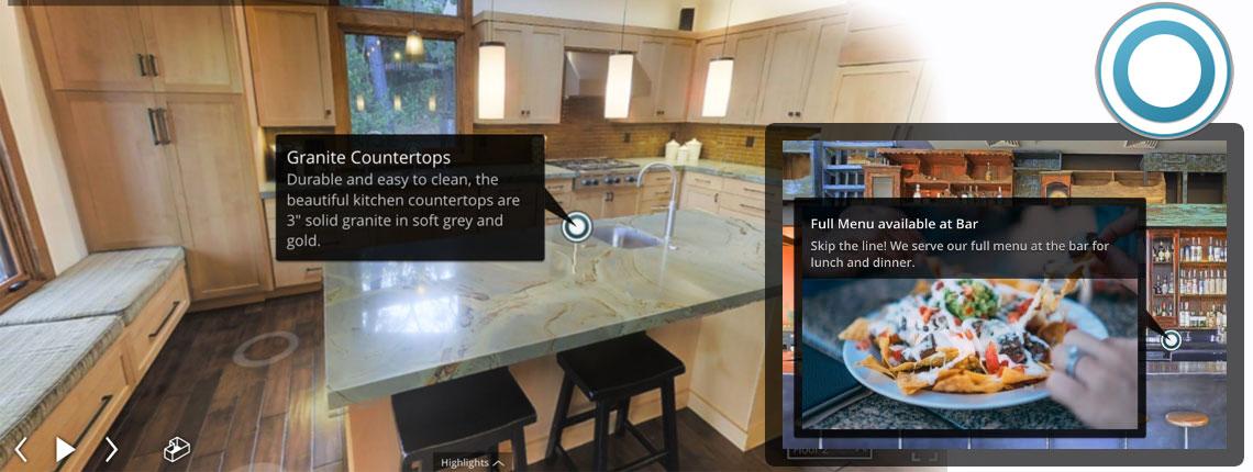 znaczniki wirtualny spacer matterport