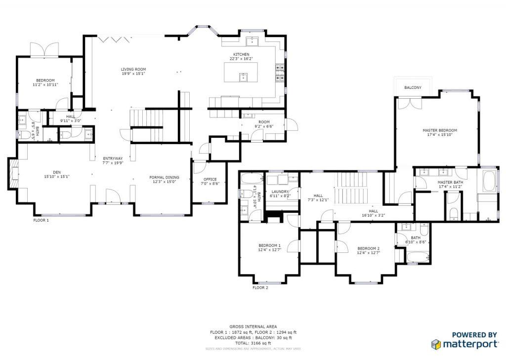 plan budynku matterport