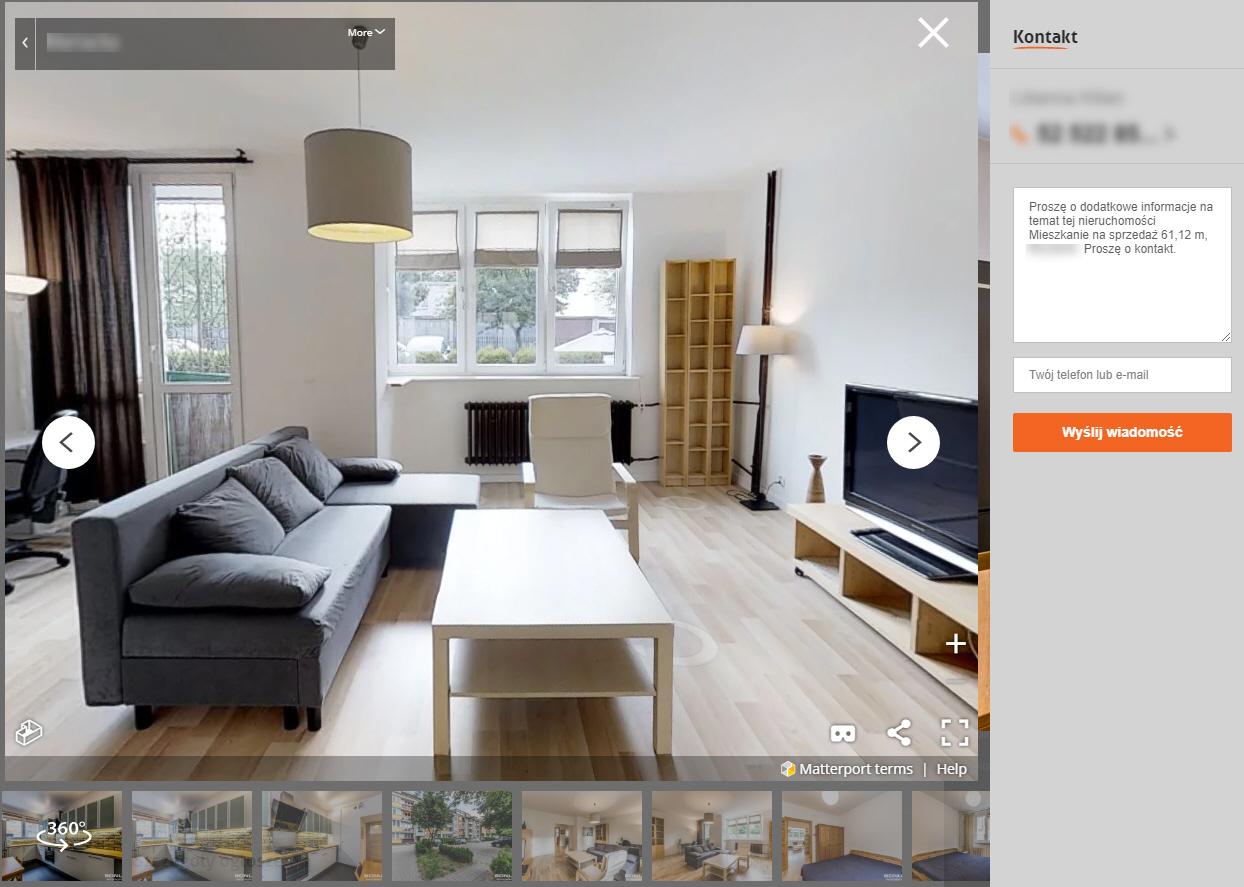 nieruchomości online ogłoszenie wirtualny spacer
