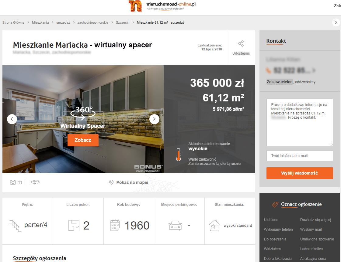 nieruchomosci-online wirtualny spacer