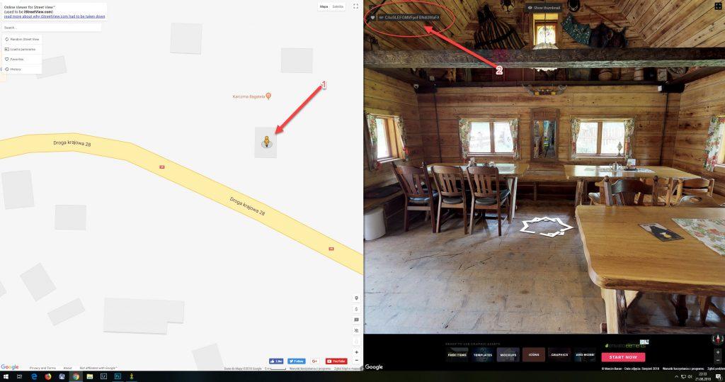 jak pobrać panoramę z google street view