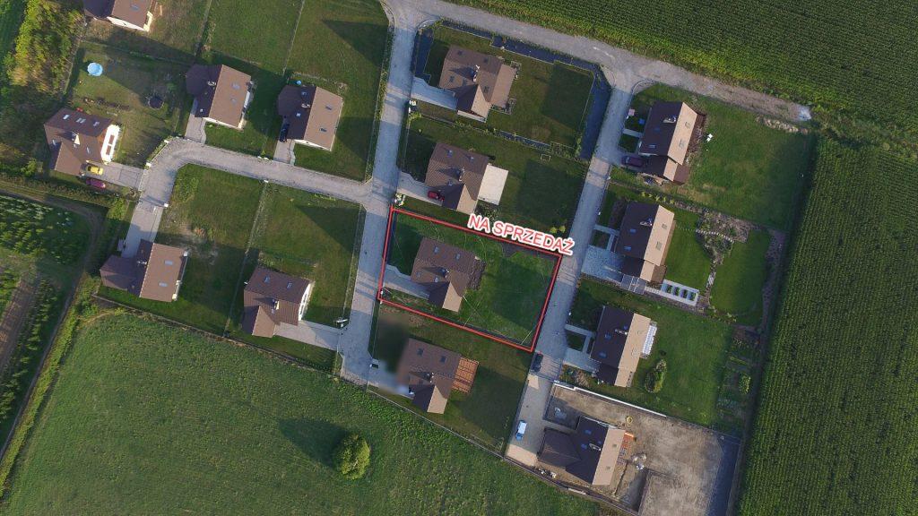 zdjęcia z powietrza działka budowlana