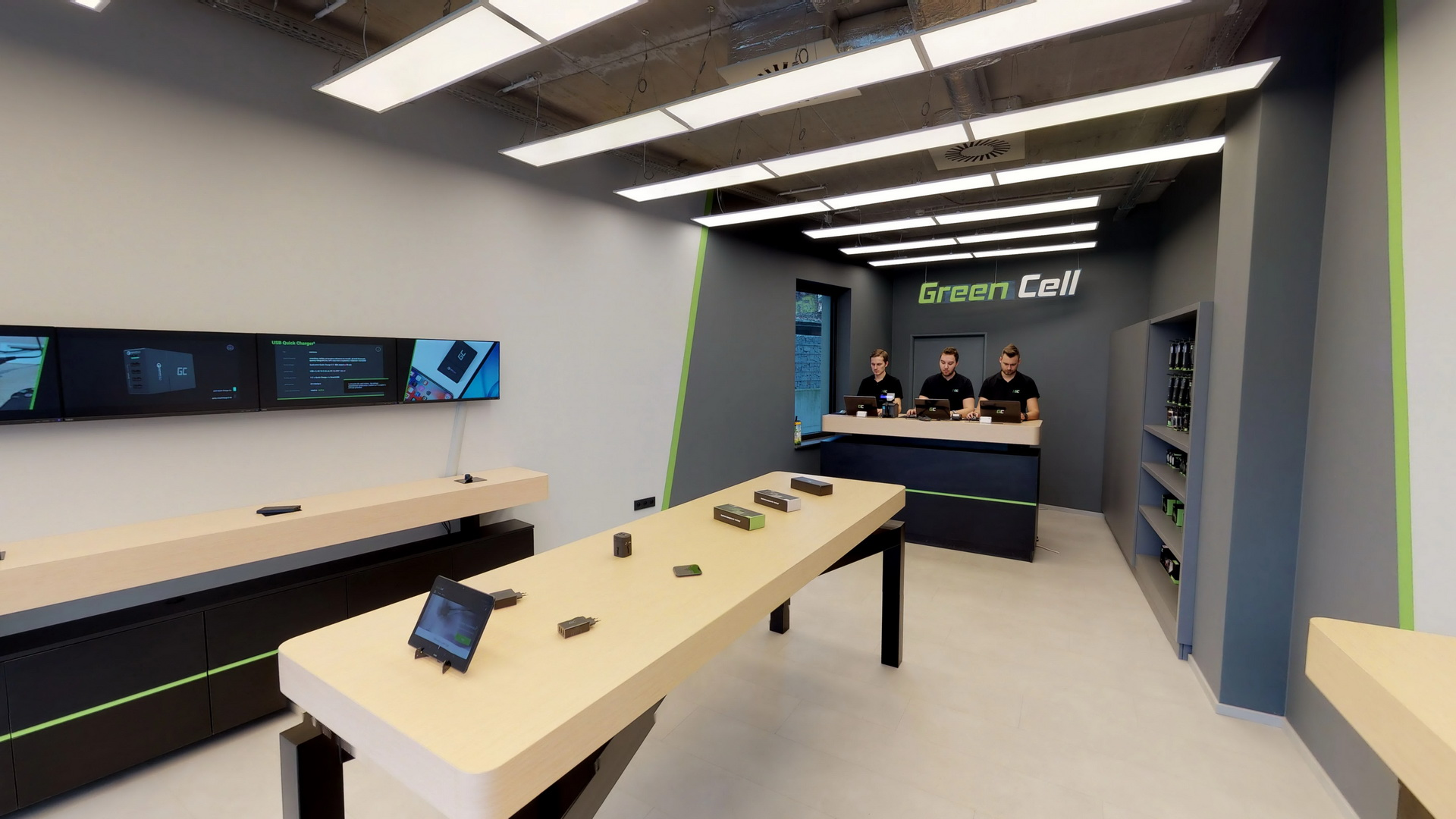 greencell showroom wirtualny spacer