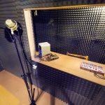 prowizoryczne studio nagrań hip-hop