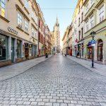 wyludniony Kraków bez turystów