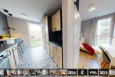 wirtualny spacer mieszkanie studenckie