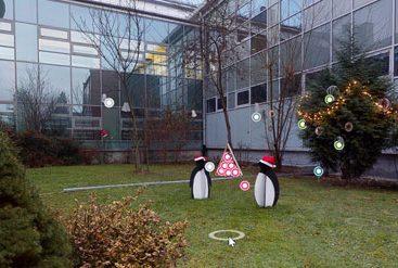 wirtualny świąteczny ogród