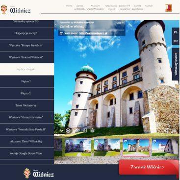 wirtualny spacer zamek Wiśnicz
